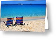 Beach Chairs Greeting Card