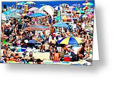 Beach Chaos Greeting Card