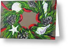 Beach Christmas Wreath Greeting Card