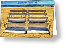 Beach Closed Asbury Park Nj Greeting Card