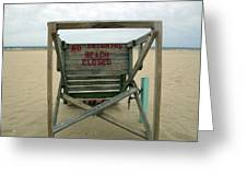 Beach Closed Greeting Card