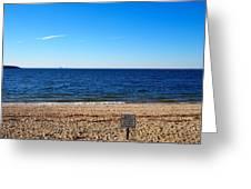 Beach Closed Greeting Card