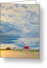 Beach Clouds Greeting Card