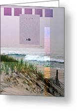 Beach Collage 3 Greeting Card