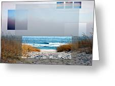 Beach Collage Greeting Card