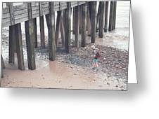 Beach Combing Greeting Card