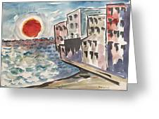 Beach Condos Greeting Card