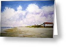 Beach Cottages Greeting Card