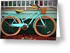 Beach Cruiser Bike Greeting Card