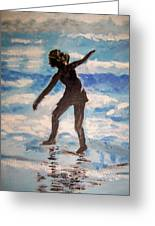 Beach Dancer Greeting Card