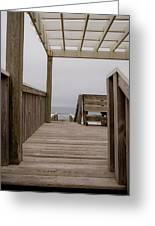 Beach Deck Greeting Card