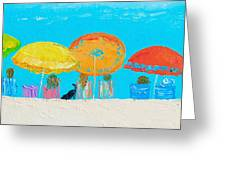 Beach Decor - Umbrellas Panorama Greeting Card