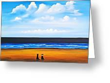 Beach Dogs Greeting Card