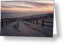 Beach Entrance Lbi New Jersey Vintage  Greeting Card