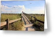 Beach Entrance Greeting Card