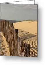 Beach Fence, Cape Cod Greeting Card