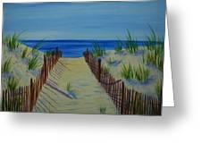 Beach Fence Greeting Card