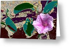 Beach Flower Greeting Card