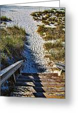 Beach Footprints - Boca Grande Florida Greeting Card