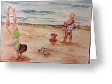 Beach Fun. 1 Greeting Card