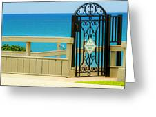 Beach Gate Greeting Card