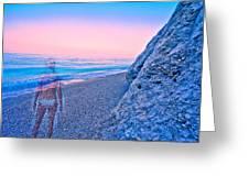 Beach Ghost Greeting Card