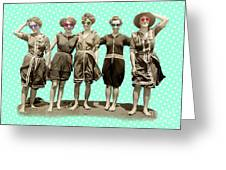Beach Girls Greeting Card