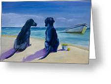 Beach Girls Greeting Card by Roger Wedegis