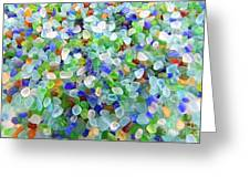 Beach Glass Greeting Card