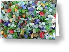 Beach Glass Mix Greeting Card