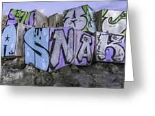 Beach Graffiti  Greeting Card