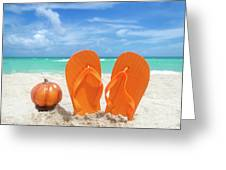 Beach Halloween  Greeting Card