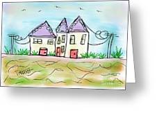 Beach Homes Greeting Card