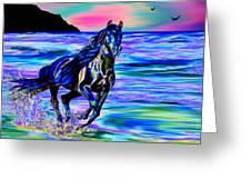 Beach Horse Greeting Card