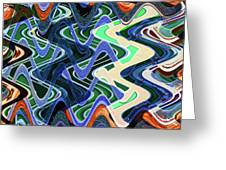 Beach Hotel Abstract 8102-3 Greeting Card