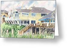 Beach House At Wrightsville Beach Greeting Card
