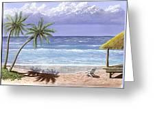 Beach House Greeting Card