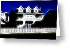 Beach House Fractal Greeting Card