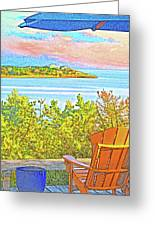 Beach House On The Bay Greeting Card
