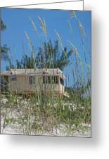 Beach House Through Sea Oats Greeting Card