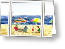 Beach House Window Greeting Card