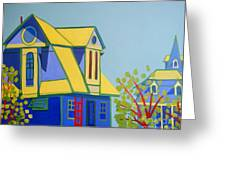 Beach Houses Greeting Card