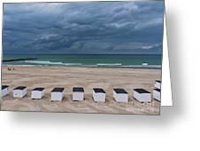 Beach Houses On North Sea Greeting Card