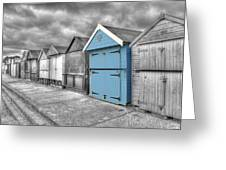 Beach Hut In Isolation Greeting Card