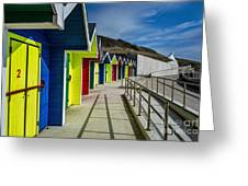 Beach Huts At Barry Island Greeting Card