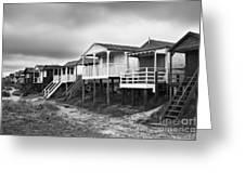 Beach Huts North Norfolk Uk Greeting Card