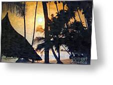 Beach In Accra Greeting Card