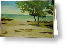 Beach In Anna Maria Florida Greeting Card