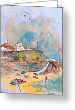 Beach In Ericeira In Portugal Greeting Card