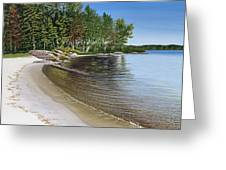 Beach In Muskoka Greeting Card